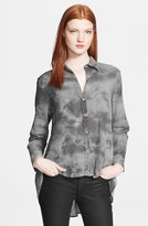 Enza Costa High/Low Button Front Shirt