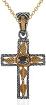 Emma Chapman Jewels Lucia Blue Sapphire Gold Cross