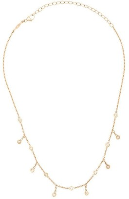 Jacquie Aiche 14kt Yellow Gold Spaced Out Diamond Shaker Choker Necklace
