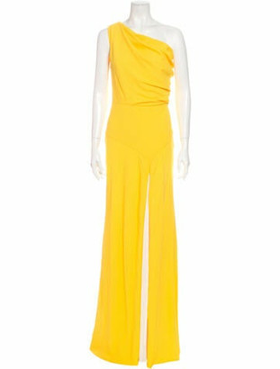 Vionnet One-Shoulder Long Dress w/ Tags Yellow