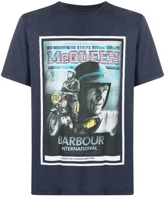 Barbour graphic-print cotton T-shirt