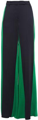 Valentino Two-tone Satin-crepe Wide-leg Pants