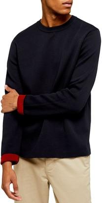Topman Double Knit Classic Fit Cotton Blend Sweater