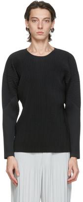 Homme Plissé Issey Miyake Black Basics Long Sleeve T-Shirt