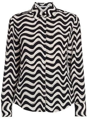 Stella McCartney Willow Printed Silk Shirt