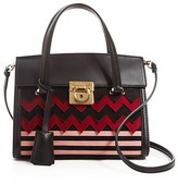 Salvatore Ferragamo Mini Mara Chevron Crossbody