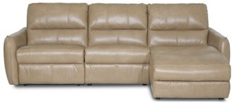 """Palliser Furniture Lina 109"""" Reclining Sofa & Chaise Body Fabric: Bronco Malt, Sectional Orientation: Right Hand Facing, Motion Type: Manual"""
