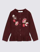 Marks and Spencer Frill Embroidered Cardigan (3 Months - 6 Years)