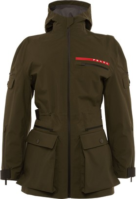 Prada technical fabric short military jacket