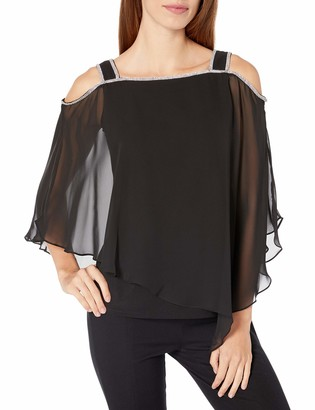 MSK Women's Cold Shoulder Overlay TOP