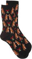 Hot Sox Women's Cat Mistletoe Women's Crew Socks