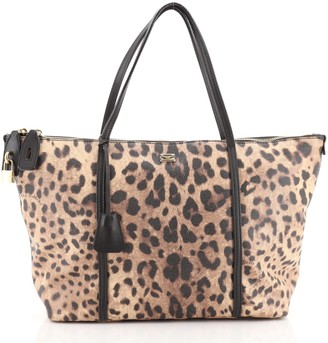 Dolce & Gabbana Miss Escape Zip Tote Printed Coated Canvas Large