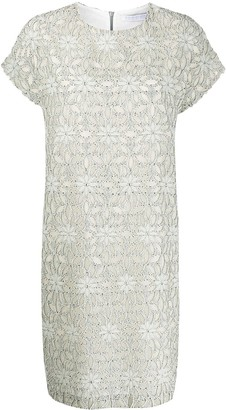 Harris Wharf London Cap Sleeve Shift Dress
