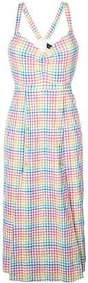 Saloni Rainbow Gingham Dress