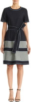 Carolina Herrera Belted A-Line Chambray Dress