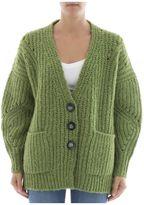Isabel Marant Green Wool Cardigan