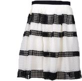 MICHAEL Michael Kors Lace Striped Skirt