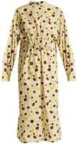 Marni Grasses-print ruched-waist cotton dress