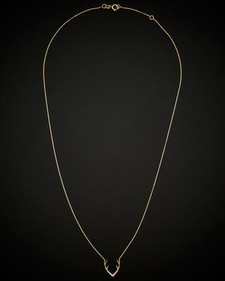 Italian Gold 14K Antler Adjustable Necklace