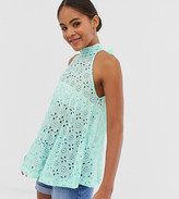 Asos Tall DESIGN Tall trapeze top in broderie