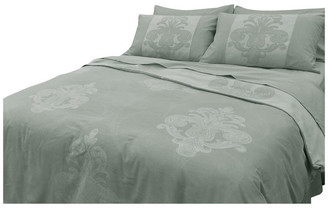 Natural Comfort Yue Home Textile Yarn-Dyed Linen Cotton Duvet Cover Set, Pineapple, Sa
