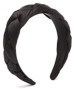 Sophie Buhai Braided Silk-satin Headband - Black