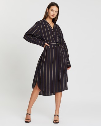 Joseph Janis Cotton-Silk Stripe Dress