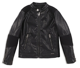 Diesel Boys' Faux-Leather Miami Music Lovers Club Moto Jacket - Big Kid