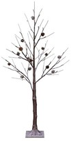 Philips 4ft Pre-Lit LED Artificial Christmas Tree Decorated Birch - White Lights