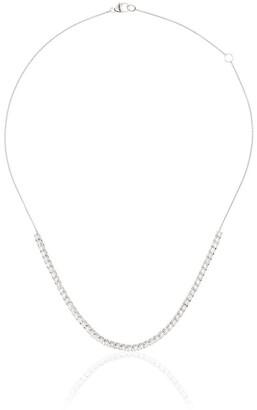Dana Rebecca Designs 14kt white gold and diamond half chain necklace
