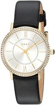 DKNY Women's 'Willoughby' Quartz Stainless Steel and Leather Casual Watch, Color:Black (Model: NY2552)