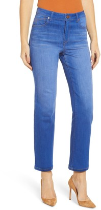 1822 Denim High Rise Ankle Crop Straight Jeans (Regular & Plus Size)