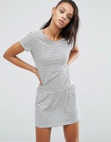 Pepe Jeans Xana Jersey Stripe Dropped Hem Dress