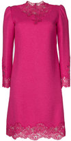 Ermanno Scervino floral trim dress