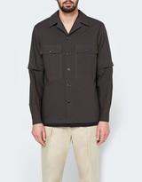 Lemaire Detachable Sleeve Overshirt in Lichen