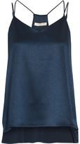 Halston Hammered-satin Camisole - Storm blue