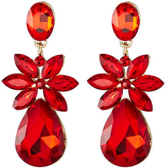 Greenbeads Red Statement Earrings