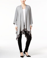 INC International Concepts Faux Suede Fringe Poncho, Only at Macy's