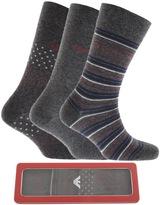 Giorgio Armani Emporio 3 Pack Socks Grey