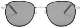 Saint Laurent Round Metal Sunglasses - Womens - Silver