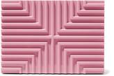 Lee Savage Cross Stack pink brass box clutch