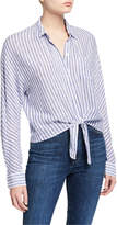 Rails Rylan Striped Tie-Front Shirt