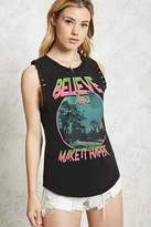 Forever 21 Faded Graphic Muscle Tee