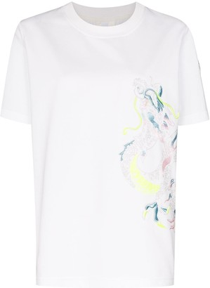Dragon Optical embroidered T-shirt