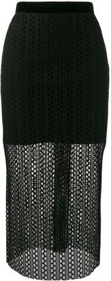 Philosophy di Lorenzo Serafini Knitted Midi Skirt