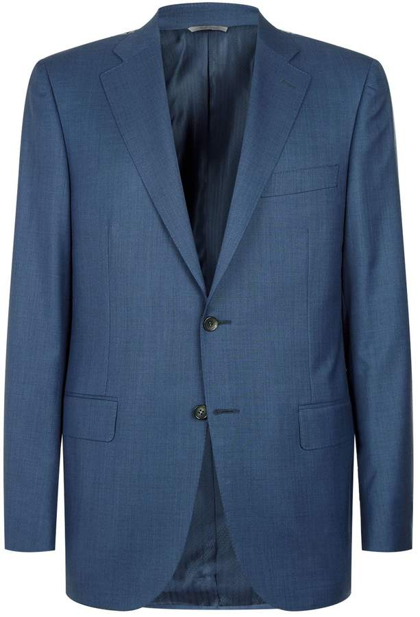 Canali Melange Wool Two-Piece Suit