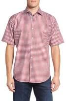Bugatchi Classic Fit Gingham Short Sleeve Sport Shirt