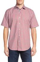Bugatchi Men's Classic Fit Gingham Short Sleeve Sport Shirt