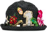 Dolce & Gabbana embellished raffia hat
