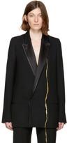 Haider Ackermann Black Embroidered Double-Breasted Blazer